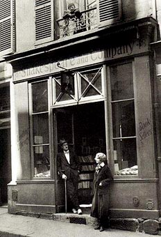 Paris 1920. Shakespeare and Company. Sylvia Beach and James Joyce